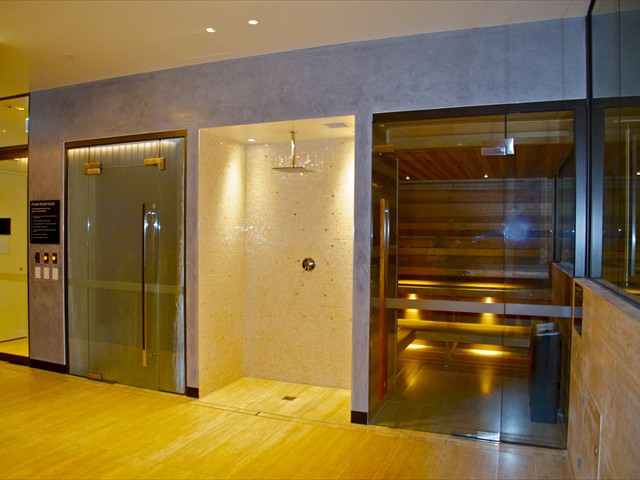 ABODE: 55th floor dry sauna and steam room