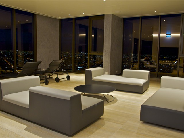 ABODE: 55th floor lounge with amazing views!