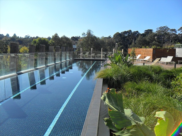 EDEN: Heated Lap pool and spa with River views