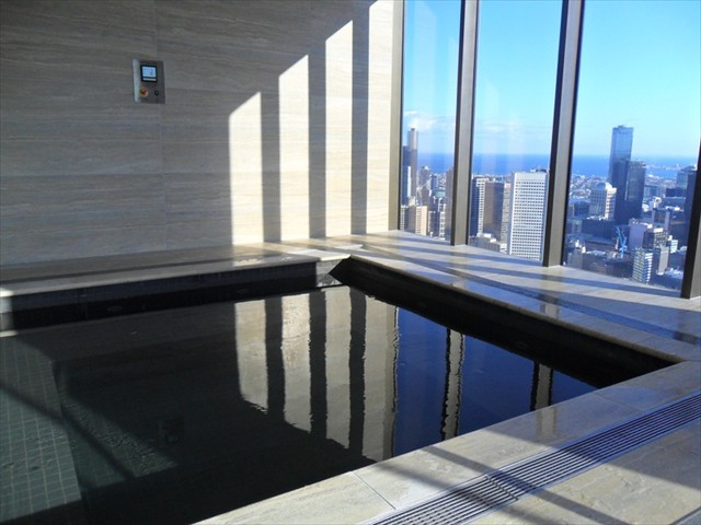 ABODE: Level 55 exclusive use spa centre (spa, two saunas) with the best views in Melbourne