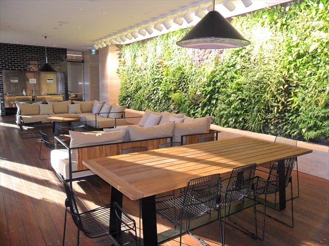 ABODE: Indoor/outdoor Garden/BBQ area (level 9) opens up to outside